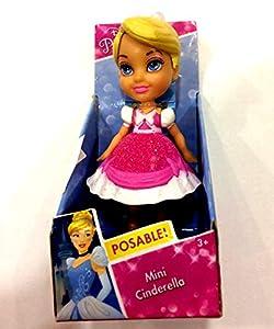 Jakks Pacific Muñeca Princesa Disney Cenicienta con Vestido Rosa,, 7,5 cm 84627
