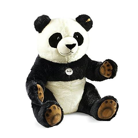 Steiff 075780 - Pummy Panda 45 sitzend, schwarz/weiss
