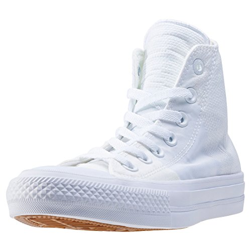 Converse Chuck Taylor All Star Ii, Sneaker a Collo Alto Unisex-Adulto White