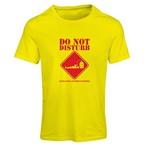 Lepni.me maglietta donna alcol del sangue esperimento in progresso - camicie divertenti da bere (medium giallo rosso)