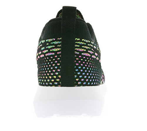Nike - NIKE ROSHE NM FLYKNIT, Scarpe sportive Uomo Nero (Negro (Negro (Black/Black-Pink Pow-Blue Glow)))