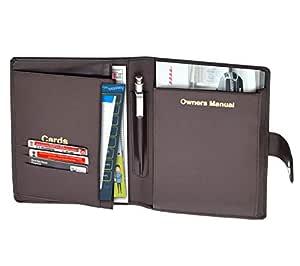 Storite Car Document Holder, Owner Manual Case Pouch, Vehicle Document Storage Wallet for Registration & Insurance Card, Premium Auto Paperwork Holder - Brown (23.5 x 18.5 x 2.5 cm)
