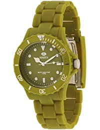 Marea B48107/13 - Reloj unisex de cuarzo, correa de caucho color verde