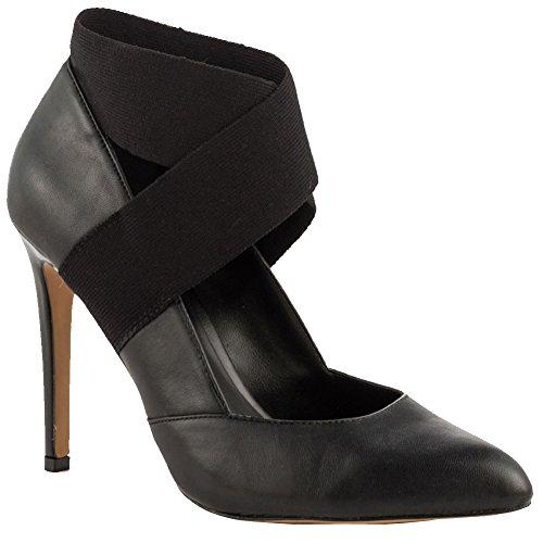 Kolnoo Femmes 10.5cm talon haut Cross Bands bout pointu Party Dress Fashion Pumps Shoes Black