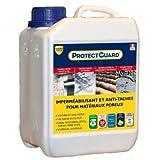 Imperméabilisant Hydrofuge, oléofuge pour matériaux poreux  Guard Industrie PROTECTGUARD 2L