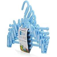 Hangerworld - Perchas de plástico con Pinzas para pantalón y Falda (30 cm, 20 Unidades), Color Azul