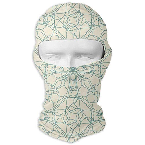 Bikofhd Floral-Lattice Ski Masks for Cycling Outdoor Sports Full Face Mask Balaclava Windproof Breathable New8 -