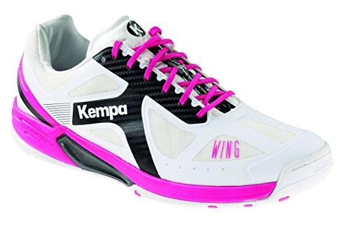 Kempa Mädchen Wing LITE Women Handballschuhe, Weiß (Blanco/Negro/Fucsia 000), 35.5 EU