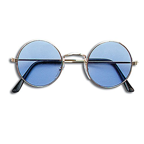 Bristol Novelty BA366 Lennon Brille, Blau, unisex - erwachsene, - Rock Musiker Kostüm