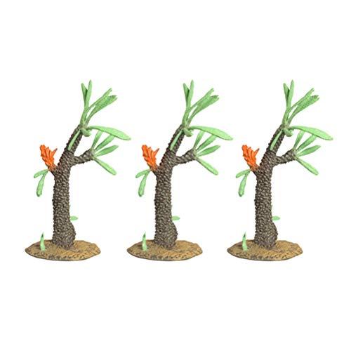 Toyvian 3 stücke Simulation Bäume Kunststoff Modell Künstliche Grüne Baum Micro Landschaft...