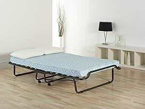 vienna lit d 39 appoint double pliant avec matelas ressort int rieur cuisine maison. Black Bedroom Furniture Sets. Home Design Ideas