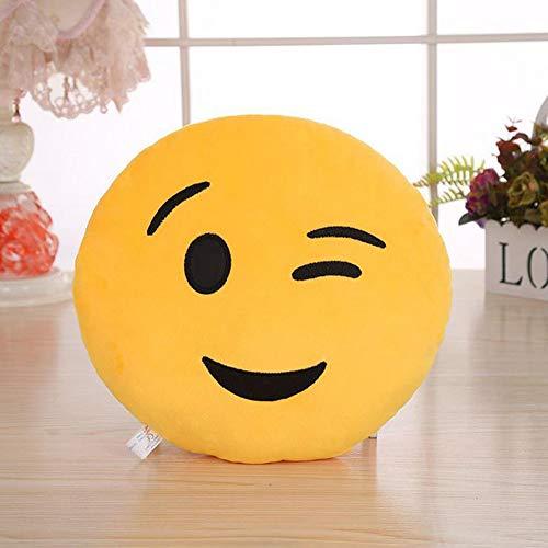 TAOtTAO Expression Pillowcase 32cm Weiche Emoji Smiley Emoticon gefüllt Plüschtier Puppe Kissenbezug (L)