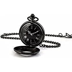 AOHANG Steampunk Skeleton Mechanical Copper Roman Retro Pendant Pocket Watch