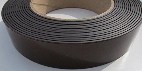 supa-mag nastro magnetico, mag B con Premium Solvente Adesivo Acrilico e UV rivestimento sul lato magnetico. 25,3mm larghezza x 1,5mm di spessore magnete. Forza magnetica 170± 5g/cm di lunghezza. Fornito in rotoli di 1m, 5m, 30m o una scatola di 10off 30m