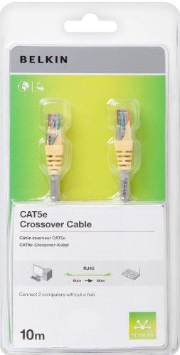 Belkin Cat5e UTP Crossover Kabel 10 m grau/gelb -