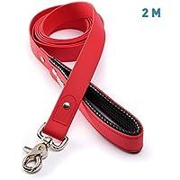Línea guía 2m de PetTec hecha de Trioflex , roja, impermeable, resistente al agua, correa robusta para perro