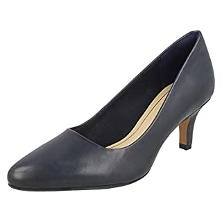 Clarks Damen isidora Faye Pumps, Blau (Navy Leather), 42 EU