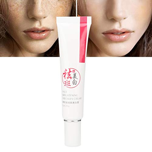 Sommersprossencreme, Creme zur Reduzierung von Flecken, Hautaufhellungscreme Anti Falten Feuchtigkeitscreme Hautpflege Geeignet für dunkle Haut, Achseln, Ellbogen, Nacken