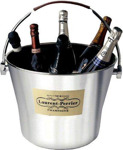 Champagnerkühler mit Ledergriff (6 Flaschen) – Champagne Laurent Perrier