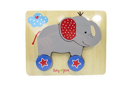 Baby Charms Elephant Brainteaser Puzzle, 20 x 16 cm, Model# 12353