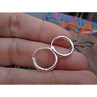 ✿ MINI CREOLS ✿ pequeños PENDIENTES de plata