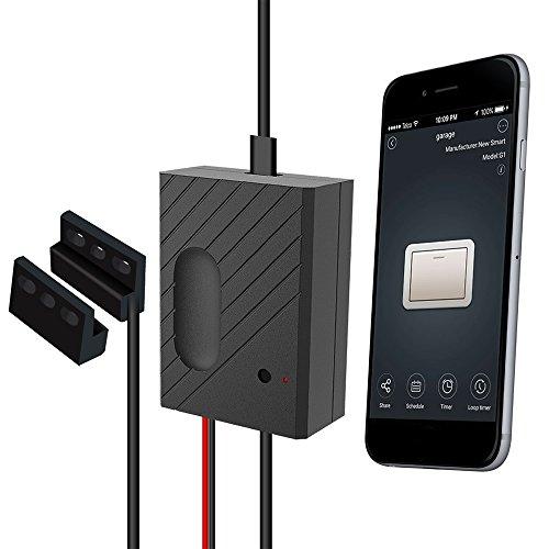 OWSOO Interruptor Inteligente con Mando Controlador de Puerta de Garaje WiFi Smart Switch Soporte Control Remoto Función de Sincronización Control de Voz para Amazon Alexa