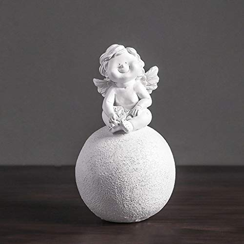 DONGLU Engel fertigt Dekorationen Hauptdekorationen Nette Anordnungs-Weinlese-Grafik (Farbe : Weiß,...