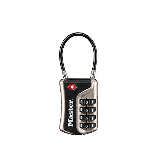 Master Lock 4697eurdnkl Candado TSA con Combinación para Maleta, Plat