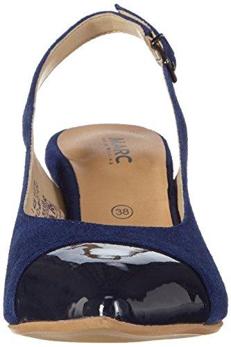 Marc Shoes - Alice, Scarpe col tacco con cinturino a T Donna Blu (Blau (navy 795))