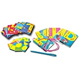 ProjectsforSchool Lacing Card 3 In 1, English Alphabet, Numbers And Shapes Lacing Cards Sensory And Motor Activity Kit, Special Children, Learning Challenged, Differently Abled Kids Education