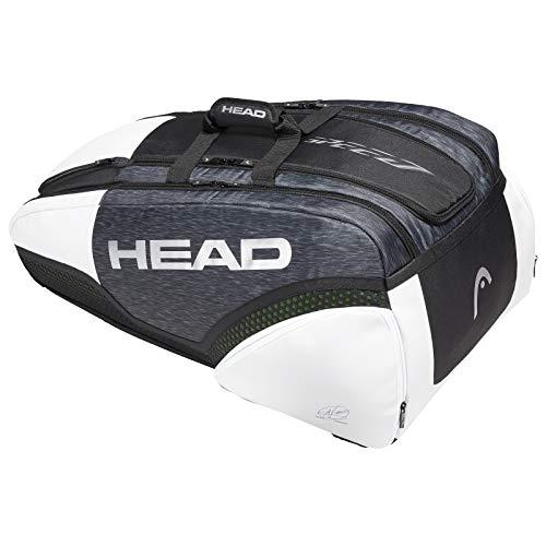 HEAD Kopf Djokovic 12R Monstercombi Holdall, Schwarz, Einheitsgröße -