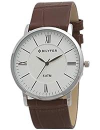 Reloj Bilyfer para Hombre con Correa Marron y Pantalla en Blanco 2W434B-M