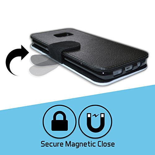 Stuff4 Coque/Etui/Housse Cuir PU Case/Cover pour Apple iPhone 7 / Craie/Poche Design / Snooker Collection Boul Noir/Poche