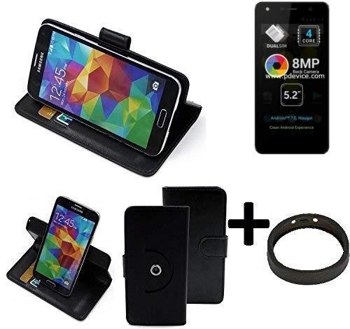 K-S-Trade® Case Schutz Hülle Für -Allview A9 Lite- + Bumper Handyhülle Flipcase Smartphone Cover Handy Schutz Tasche Walletcase Schwarz (1x)