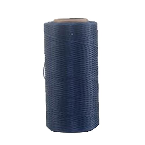 HMOCNV 260m, 1mm Leder Armband Schmuck Beading Cord Basteln Nähen Craft Wax Nylon Schnur Gewinde, marineblau, Free Size