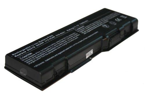 vhbw Li-Ion Akku 6600mAh (11.1V) für Notebook Laptop Dell Inspiron 6000, 9200, 9300, 9400, E1705, XPS M170 wie 310-6321, 310-6322, 312-0339. - G5266 Ersatz