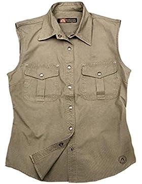 Kakadu Traders Australia - Camisas - para mujer gris marrón X-Small
