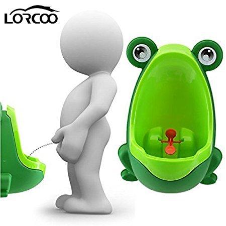 lorcoo–Bambini Orinatoio, Orinatoio per ragazzi in forma di rana per Baby Pee pissoir Training