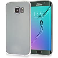 MyGadget Funda slim para Samsung Galaxy S6 ultra Delgada 0,8mm - Carcasa liviana en Silicona TPU protectora cómoda y ligera - Transparente