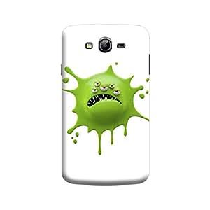 Desicase Samsung Grand Cartoon of a Green Amoeba 3D Matte Finishing Printed Designer Hard Back Case Cover (Green)