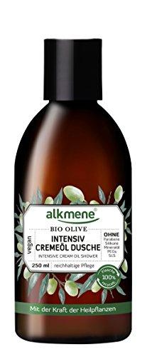 alkmene Intensiv Creme-Öl Dusche mit Bio Olive, Dusch-Öl, Duschgel, für sehr trockene Haut, 250 ml - 3er Pack (3 x 250 ml)