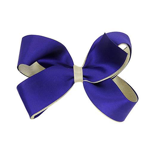 y Mädchen Bowknot Haarband Kinder Elastisches Blumen Stirnband Haarband Kopfschmuck(Einheitsgröße,X-Blau) ()