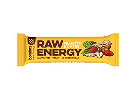Bombus Rohkostriegel Raw Energy -Erdnüsse & Datteln-, 20x 50g