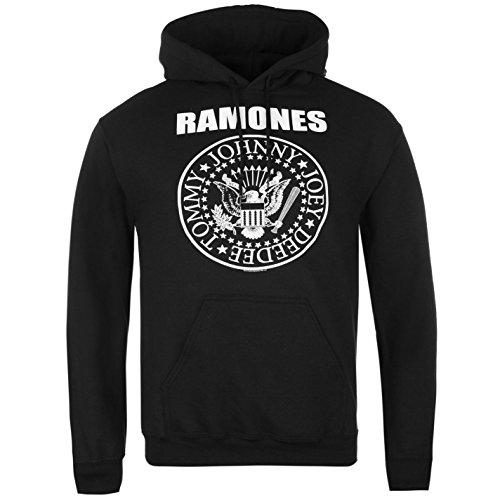 Ramones-band (Official Band Ramones Herren Kapuzenpullover Hoodie Kapuzenshirt Sweatshirt Seal Extra LGE)