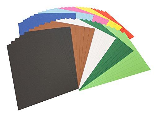 Folia 614/50 09 - Fotokarton, DIN A4, 50 Blatt, farbig sortiert