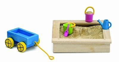 Lundby Småland 60.5086.00 - Caja de arena con juguetes en miniatura para casa de muñecas (escala 1:18) [importado de Alemania] por Lundby