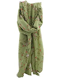 Zest Matilda Bird on a Branch Print Fashion Scarf Green
