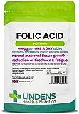Lindens Ácido fólico 400 mcg en comprimidos | 240 Paquete | Apoya la formación normal de la...