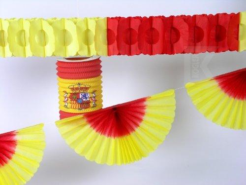 Kogler Spanien Deko-Set in Tasche, Karton, Papier, Rot/Gelb, Einheitsgröße