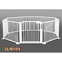ONE4all 1+7 BLANC- Barrière de sécurité modulable, parc bébé, parc évolutif